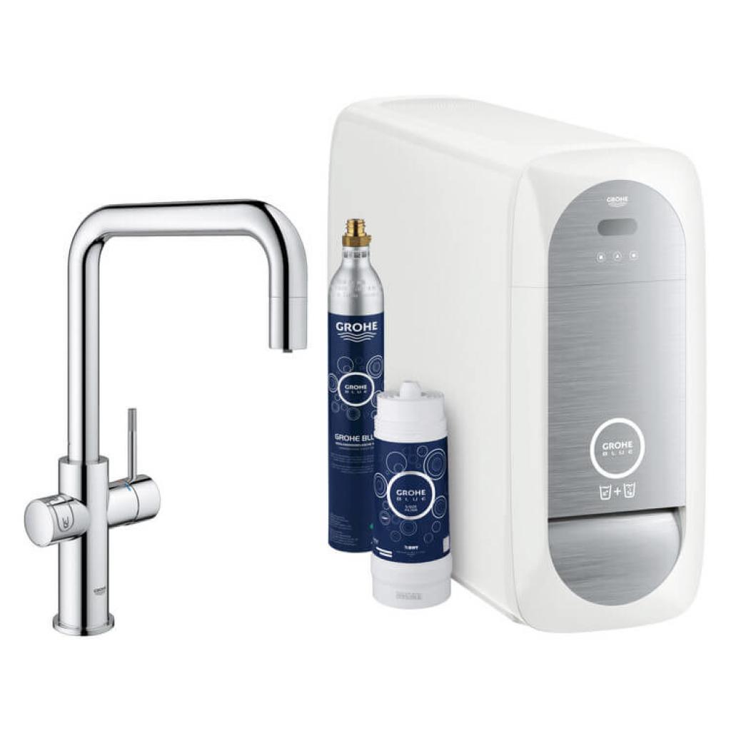 GROHE Blue Home, BT-Wifi, ausziehbar, ,mit Boiler, U-Auslauf in chrom